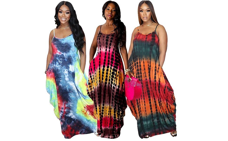 WOMEN MAXI TIE DYE DRESS