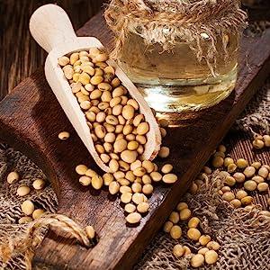 soybean oil shampoo conditioner volume treatment healing hair skin scalp