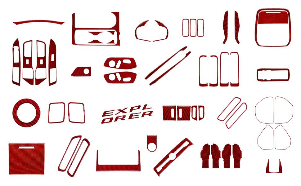 explorer 2020 interior accessory trim red
