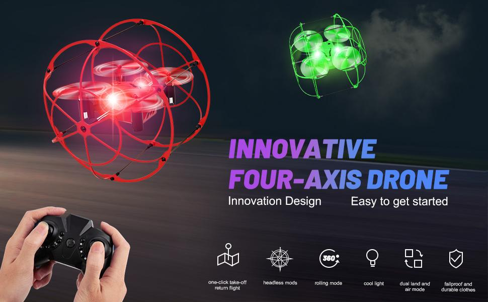 Innovative four-axis drones for kids and beginners