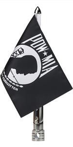 Pow-Mia Flag With Fold Down 90° Flag Pole