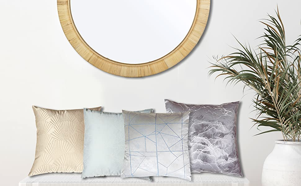 Jacquard decorative pillow covers