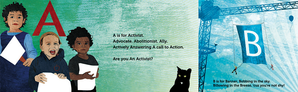 A is for Activist interior spread