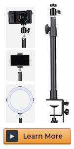 Tabletop Light Stand Camera Mount