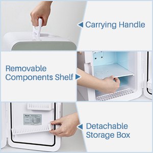 removable shelf detachable storage box