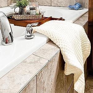 Waffle Hand Towel - Blue Cotton Hand Towels - Hand Towels Waffle - Waffle Hand Towel Kitchen