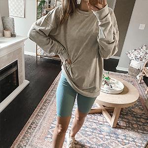 blue shorts for women