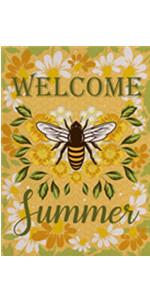 Home Decorative Welcome Summer Garden Flag
