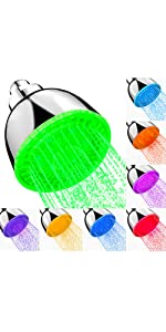 LED Shower Head Upgraded Automatic changing 7 Color Flash Light No Install