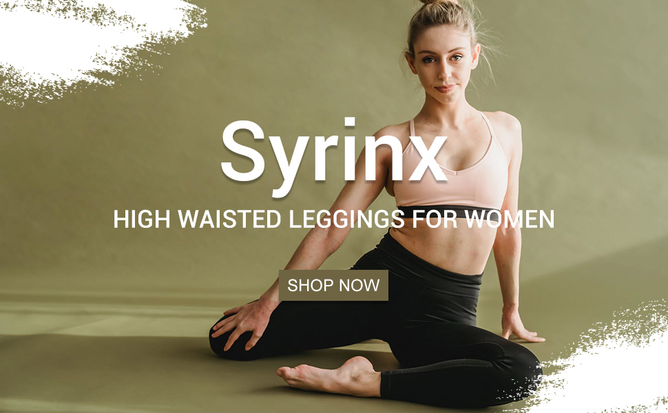 Syrinx 3 Pack High Waisted Leggings for Women