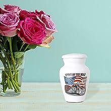 mini motorcycle urn for men