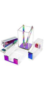 clear acrylic desk set office supplies desk accessoires organizer