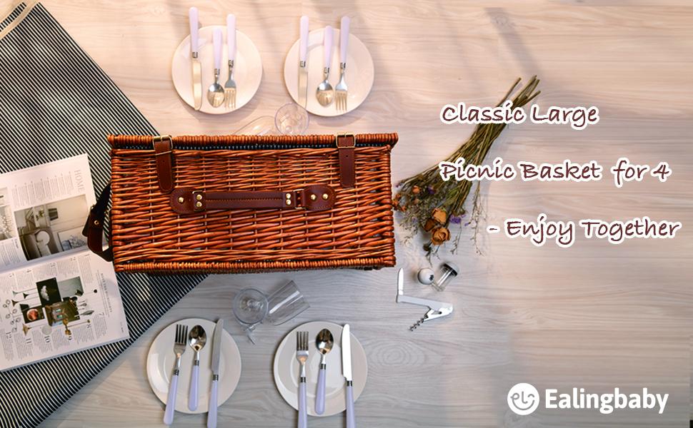 picnic basket for 4
