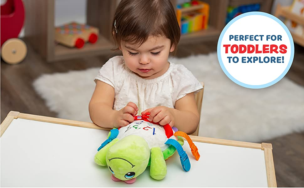 Belle Turtle Buckle Toy, Perfect for toddlers to explore