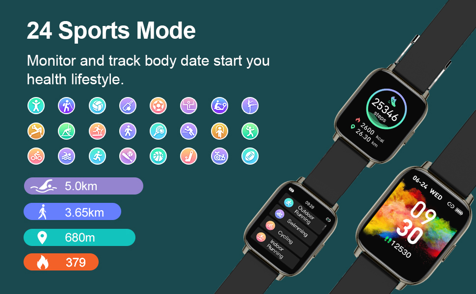 smart watch with heart monitor and sleep