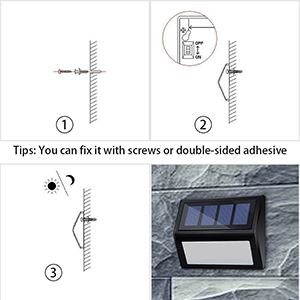 outdoor solar powered step lights