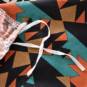 Mefinia Coffee Bohemian Exotic Duvet Cover Set Image 4