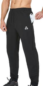 Men's Joggers Pants with Zipper Pockets