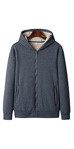Fleece Sherpa Lined Full-Zip Hoodie