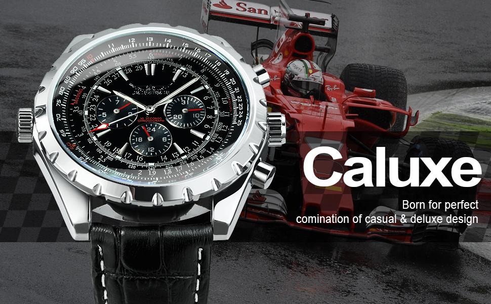 Caluxe racer watch