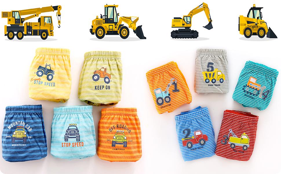 Calzoncillos niños hecho del algodón suave que mejor para la piel delicada del niños.
