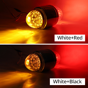 double face watermelon lights red/amber