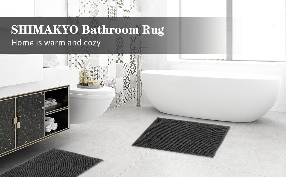 SHIMAKYO chenille bathroom rug non slip