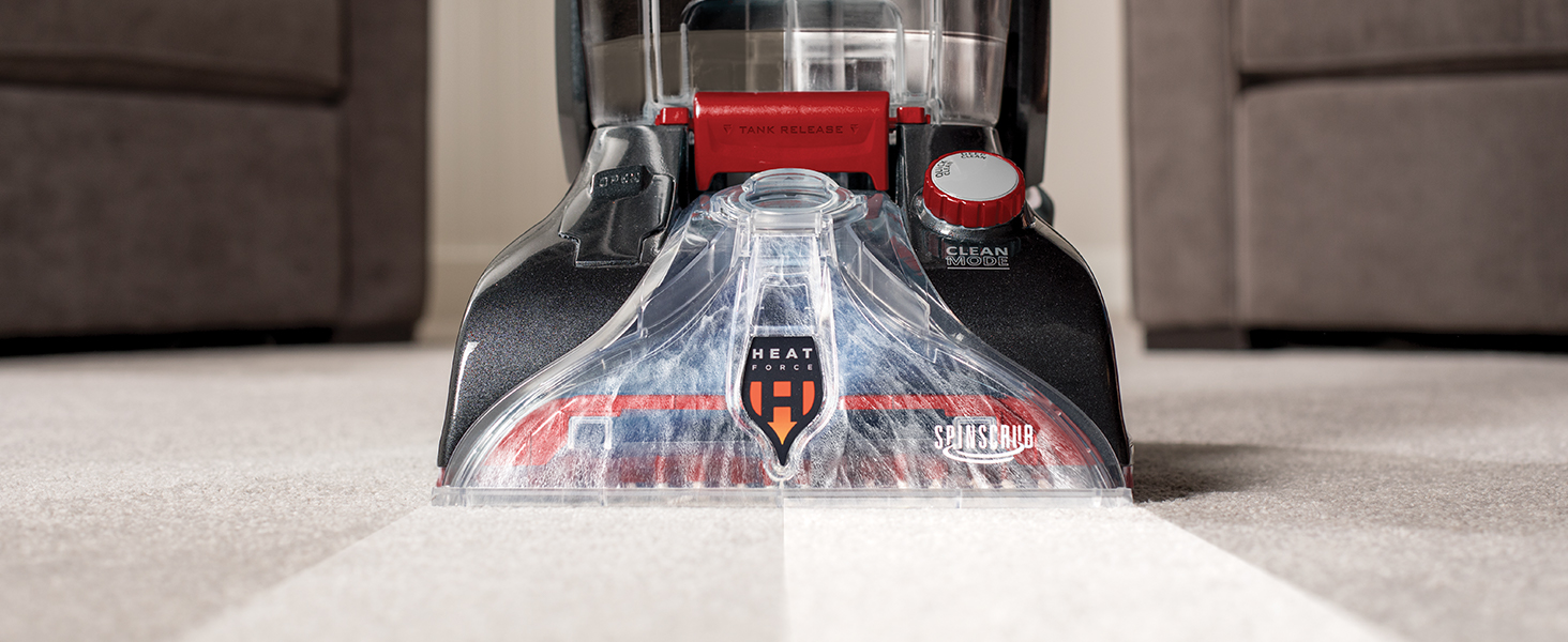 SpinScrub Brush Technology: Gently wash and scrub your carpets from all angles.