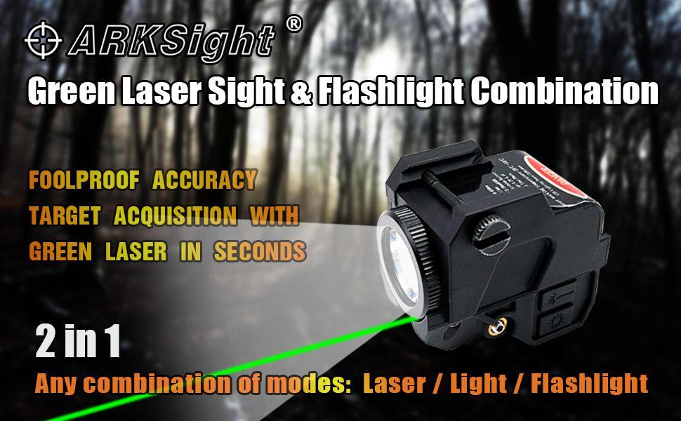 pistol Sight and LED Flashlight Combination, Green laser sight