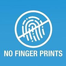 No dirty smudges, no finger prints, finger print free, no dust, no dirt, clean, shine, screen