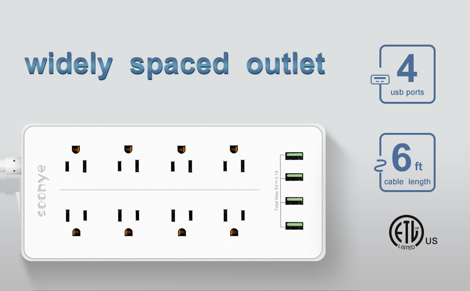 widely spaced outlet