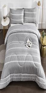 Litanika Grey boho comforter