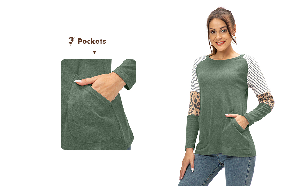 womens fall long sleeve tunic tops casual shirts with pockets