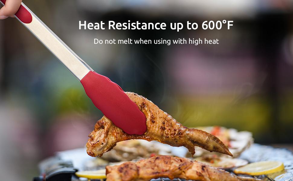 600ºF High Heat-Resistant Tongs