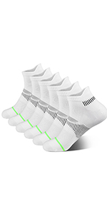 Athletic Running Cushioned Silky Dry Heel Tab Ankle Socks for Women