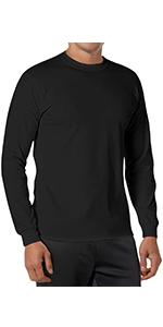 Mens Bamboo T-Shirts Crewneck Undershirt cotton shirt lightweight long sleeve orangic natural