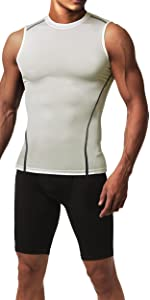 Sleeveless Compression Fit Shirt