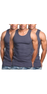 men's pack of 3 one hundred percent cotton tank top