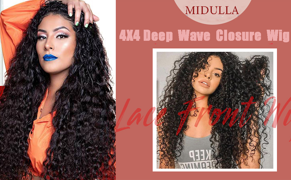 deep wave closure wigs