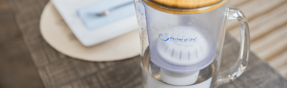 Alkaline Water Glass Pitcher of Life
