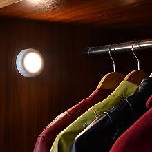 Tap lights, Push Lights, Touch Lights, Puck Lights, 4 LED Closet Lights, Night Lights, STAR-SPANGLED