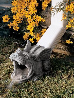 设计托斯卡诺天沟守护者落水管雕像系列