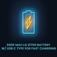 USB C Type faster Charging 5000 mAh