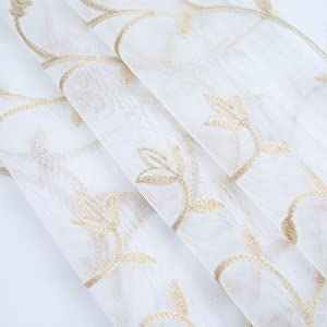 Lace Sheer Kitchen Cafe Curtain Valance Panel