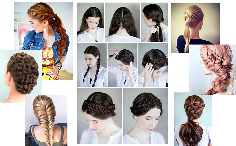 You can do any hair extensions braid style you like