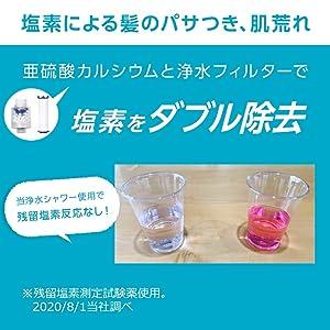 亜硫酸カルシウムと浄水フィルターで塩素をダブル除去