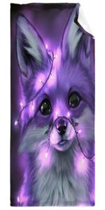 Neon Purple Fox Super Soft Fleece Flannel Blanket