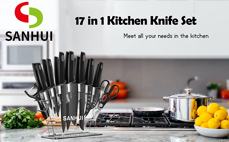 SANHUI 17-piece knife set will fulfill all your requirements related to cooking tasks at home.
