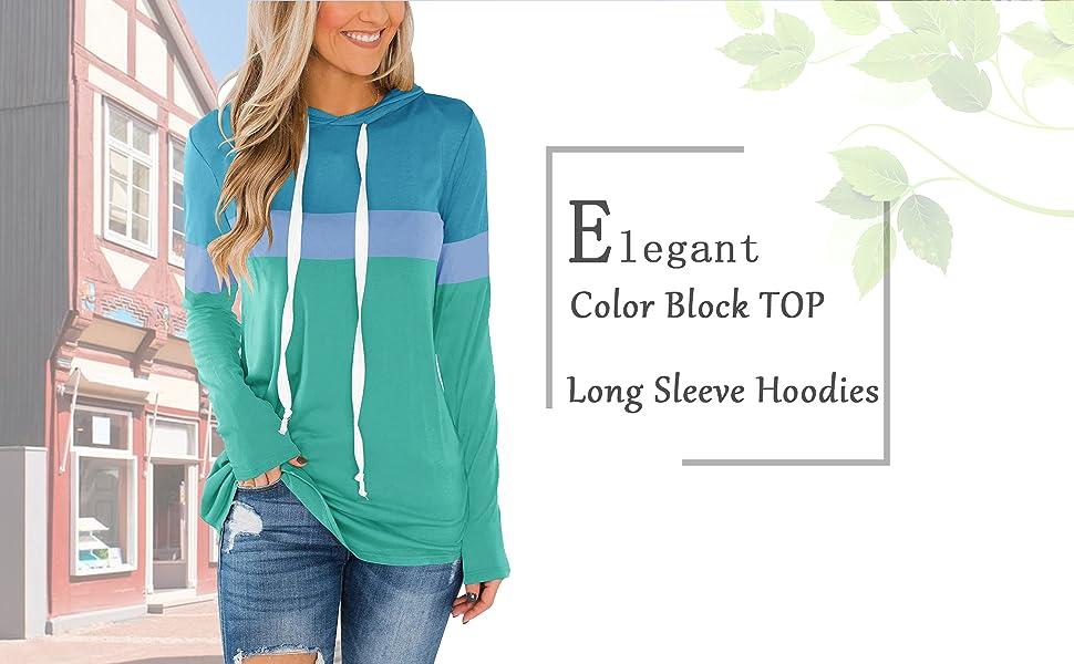 Long Sleeve Color Block Tunics