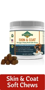 Skin and coat soft chew supplements